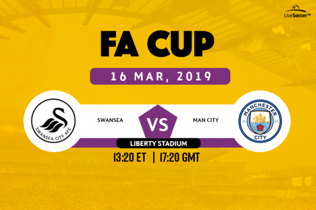 FA Cup - Swansea vs Man City broadcast info