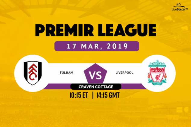 Fulham vs Liverpool broadcast information