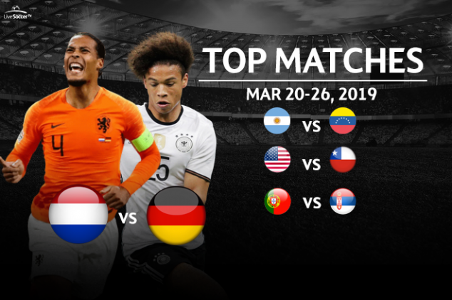 Top 40 games to watch in Mar. 20-26 intl' break