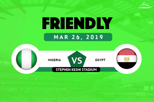 Where to watch Nigeria vs Egypt live on March 26
