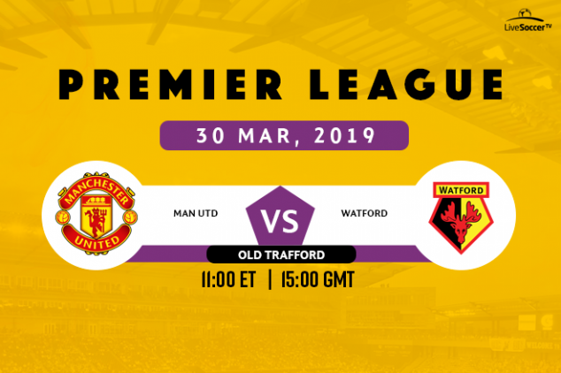 Manchester United vs Watford broadcast listings