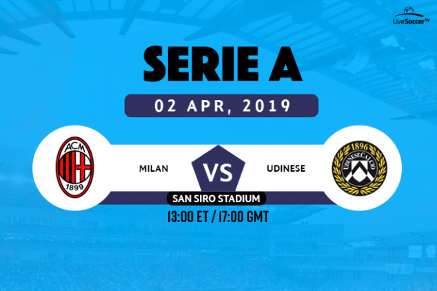 Milan vs Udinese viewing info
