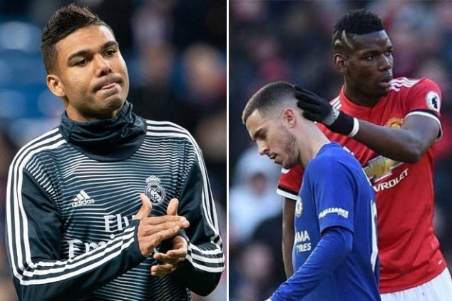 Casemiro opens up about Pogba and Hazard