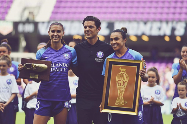 Morgan, Marta honored in NWSL opening game