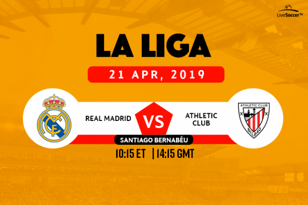 Real Madrid vs Athletic Club broadcast info