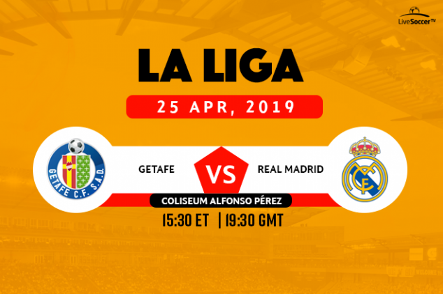 La Liga - Getafe vs Real Madrid broadcast info