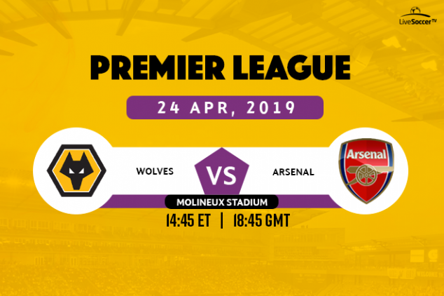 Where to watch Wolves vs Arsenal