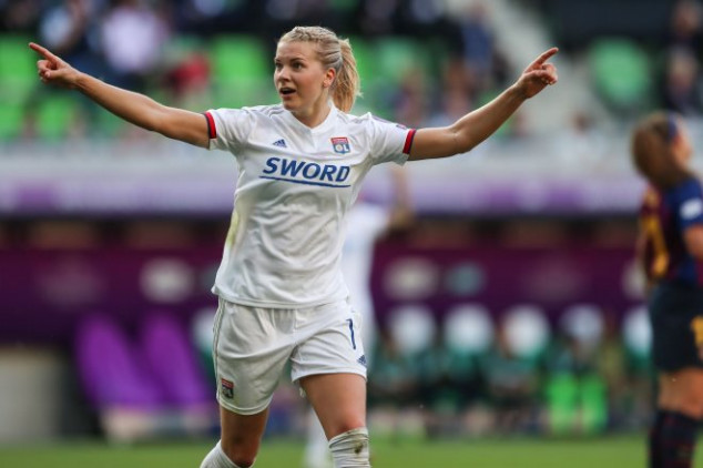 Hegerberg makes history with UCL Final hat trick