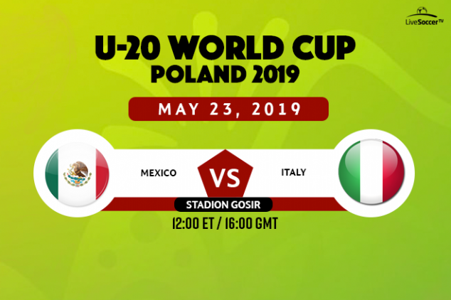 Mexico vs Italy viewing info