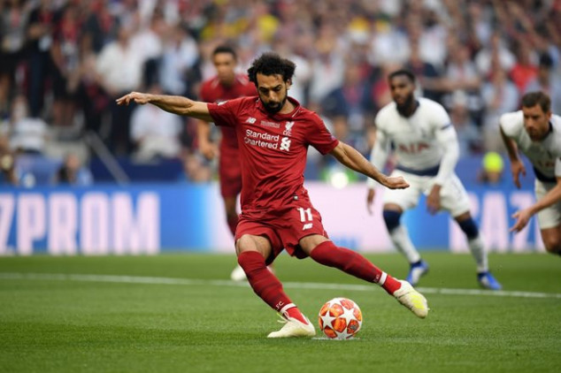 UCL Final: Salah scores as Spurs concedes penalty