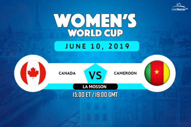 Canada vs Cameroon broadcast information