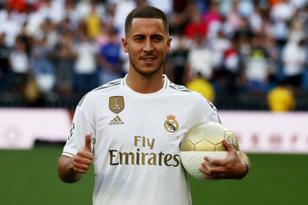 Hazard join elite list in Real Madrid unveiling