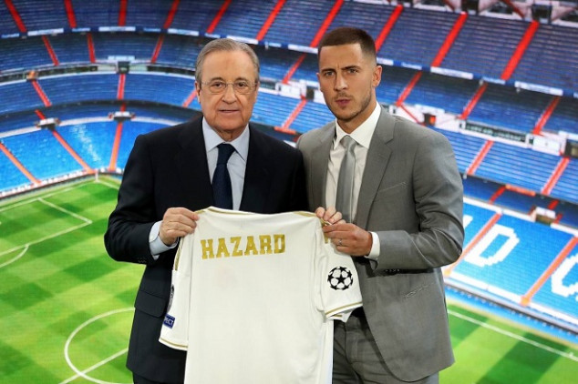 Hazard jokes about jersey number at Real Madrid