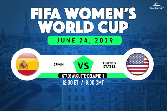 Spain vs USA broadcast information