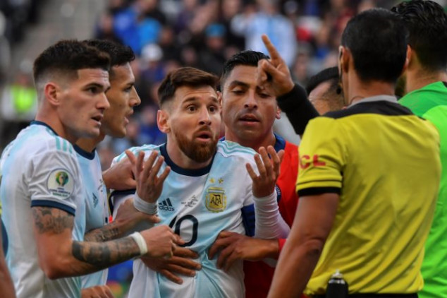 Messi slams referee and CONMEBOL after sending off