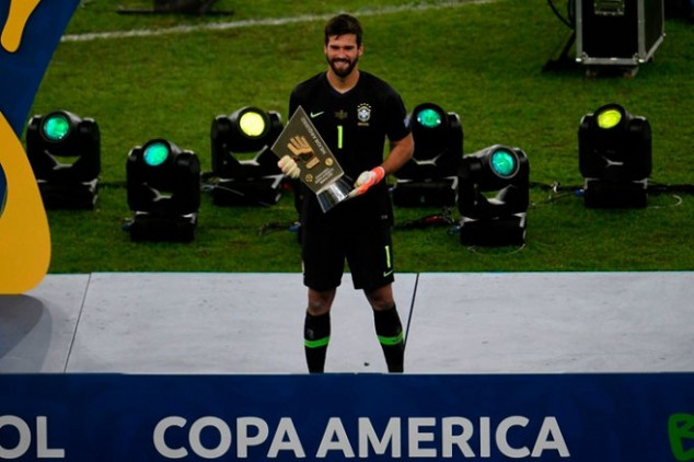 Alisson makes history with Copa América win