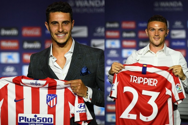 Atlético unveils two players on the same presser