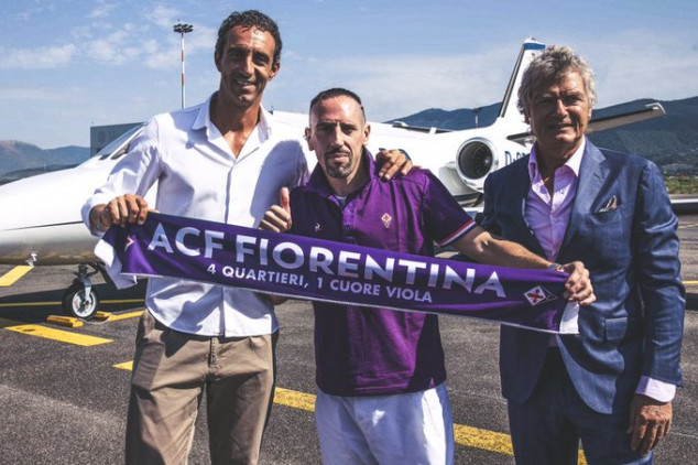 Ribery completes move to Fiorentina