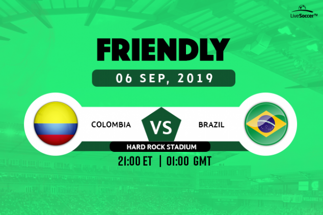 Colombia vs Brazil broadcast information