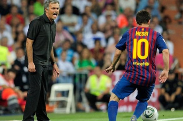 Mou thanks Messi for making him a better coach