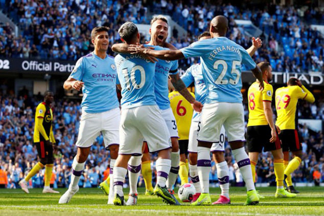 Man City set record with five goals vs Watford