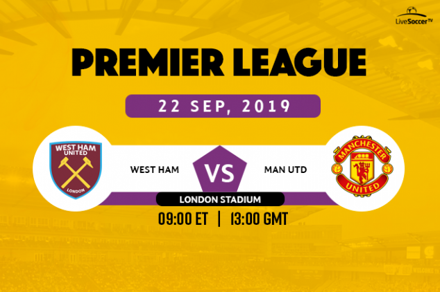 West Ham be Manchester United broadcast info