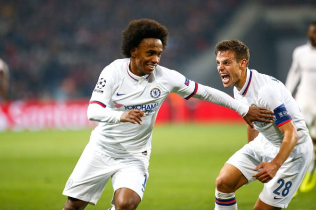 Willian matches Ronaldinho's record with UCL goal