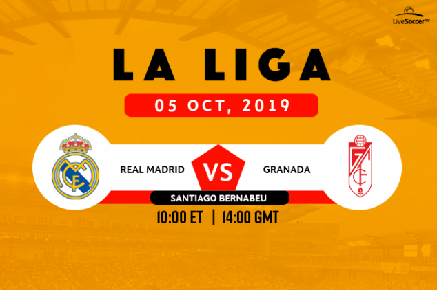 La Liga - Real Madrid vs Granada broadcast info