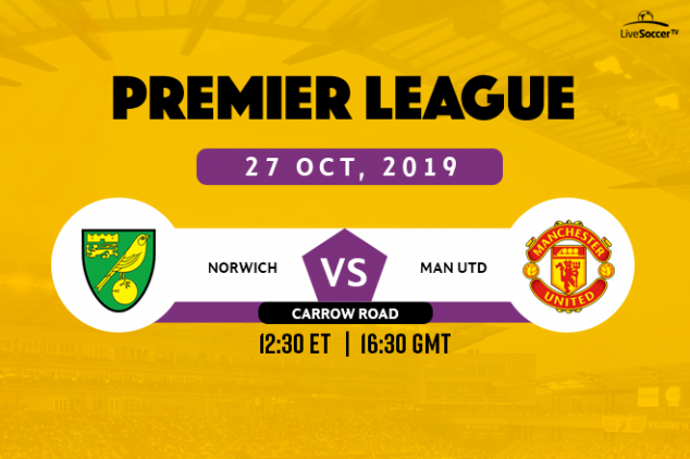 Norwich vs Manchester United broadcast information