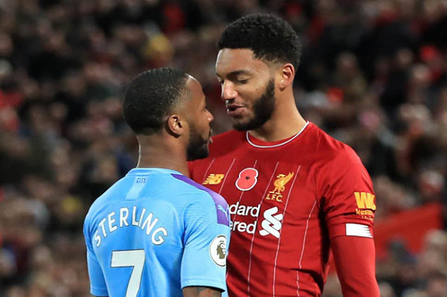 Sterling dropped after Joe Gomez bust-up