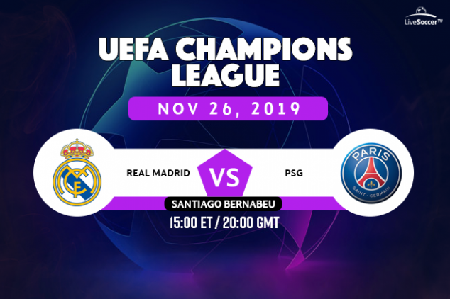 UEFA CL - Real Madrid vs PSG broadcast info