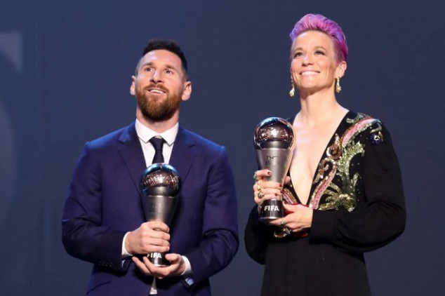 Messi and Rapinoe claim Best Playmaker Award