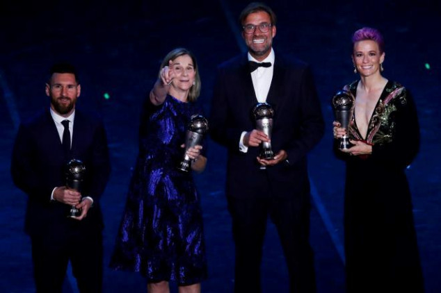 IFFHS Awards: Messi, CR7, Rapinoe, Morgan in TOTY