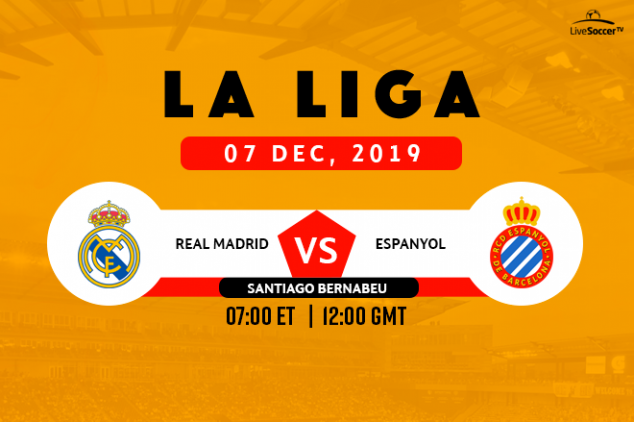 Real Madrid vs Espanyol broadcast information