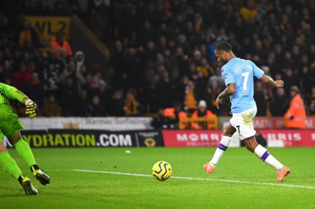 Fans puzzled as Sterling misses twice vs Wolves