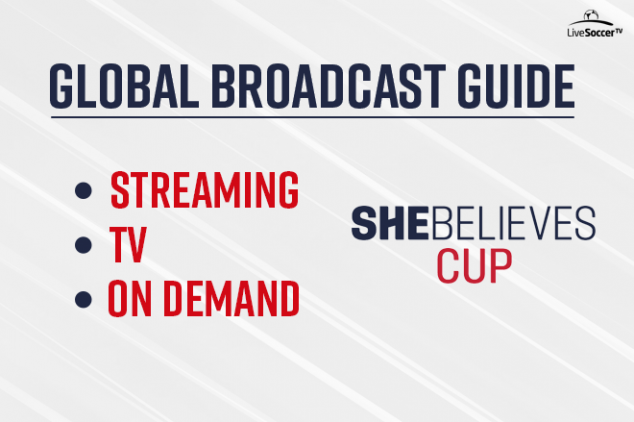 2020 SheBelieves Cup global broadcast guide