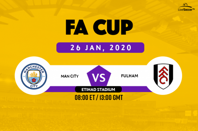 Manchester City vs Fulham broadcast information