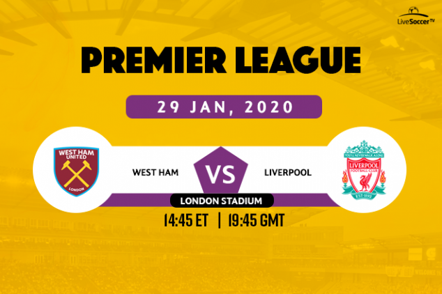 How to watch West Ham vs Liverpool