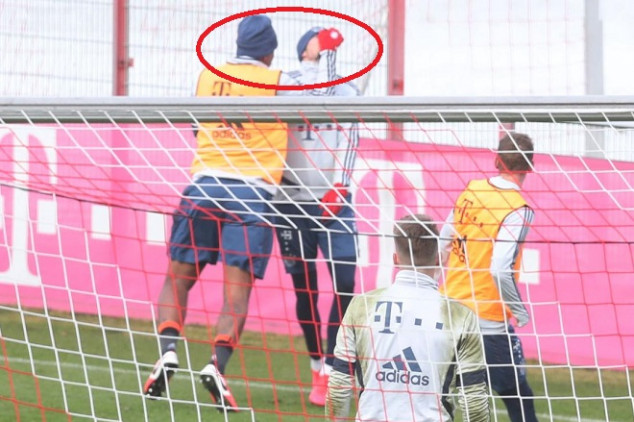 Bayern players involved in heated training bust-up