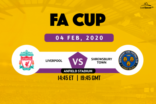 FA Cup - How to watch Liverpool vs Shrewsbury