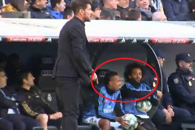 Marcelo and Militao troll Simeone during derby