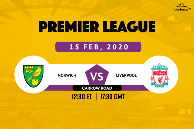 Norwich City vs Liverpool broadcast information