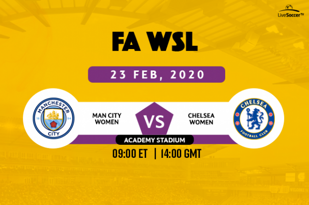 FA WSL Man City vs Chelsea on Feb. 23