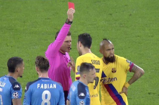 Vidal will miss 2nd leg after red card