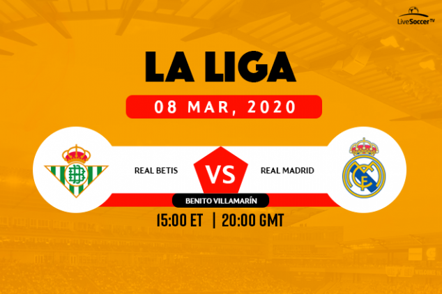 La Liga - Real Betis vs Real Madrid broadcast info