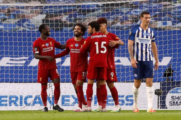 Liverpool sets new PL record with Brighton win