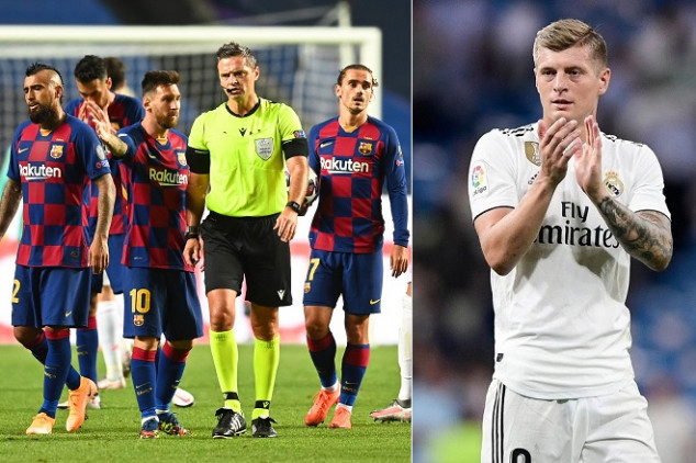 Kroos shares Madrid's reaction to Barca's 8-2 loss