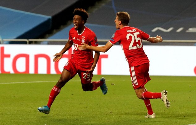 Watch: Coman scores Bayern Munich's 500th UCL goal