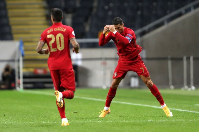 Ronaldo makes history with 100th goal for Portugal