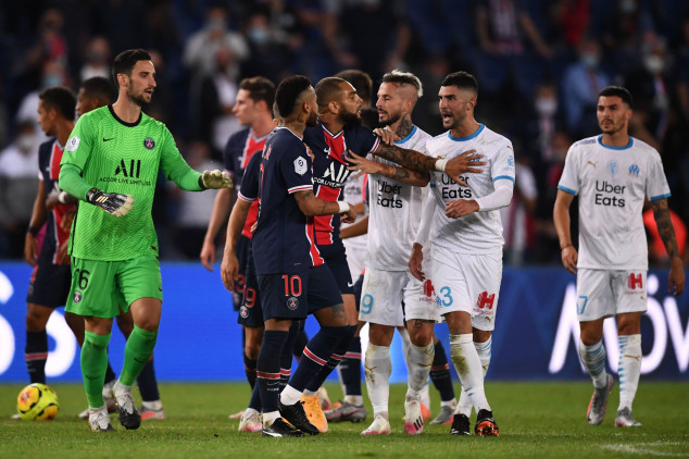 Neymar and four others sent off in PSG-OM clash